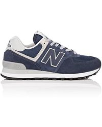 New Balance - 574 Classic Suede & Mesh Trainers - Lyst