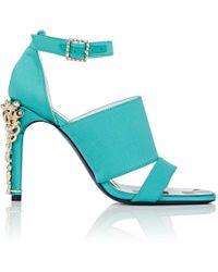 1d7c0483dc6 Rupert Sanderson Jeweled Satin Sandals - Estelle High Heel in Black ...
