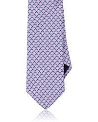 Barneys New York - Interlocking-ring-print Silk Necktie - Lyst