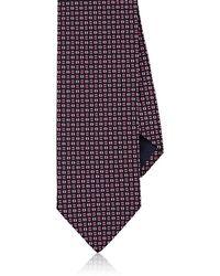 Barneys New York - Geometric-print Silk Necktie - Lyst