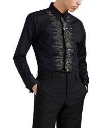 Givenchy - Embellished Cotton Poplin Tuxedo Shirt - Lyst