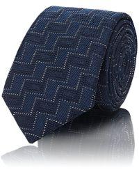 Barneys New York - Zigzag Silk Jacquard Necktie - Lyst