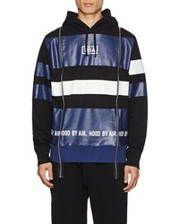 Hood By Air Logo Striped Cotton Terry Hoodie