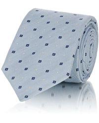 Barneys New York - Square-dot Linen-silk-blend Necktie - Lyst