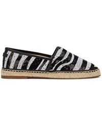 Dolce & Gabbana - Sequinned Leather Espadrilles - Lyst