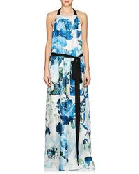 By. Bonnie Young - Floral Silk Apron Dress - Lyst