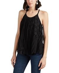 10 Crosby Derek Lam - Pleated Chiffon & Lace Cami - Lyst