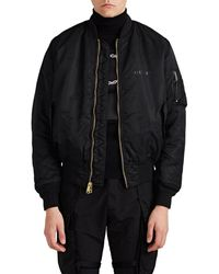 1017 ALYX 9SM Reversible Tech-twill Pilot Bomber Jacket - Black