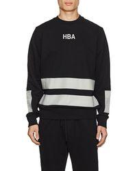 Hood By Air - Logo Striped Cotton Terry Sweatshirt - Lyst