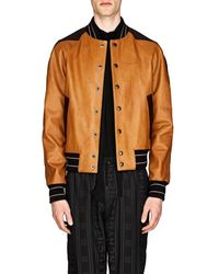 Givenchy Leather Baseball Jacket - Brown