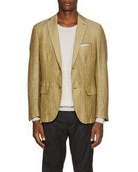 Pal Zileri - Herringbone Linen-blend Two-button Sportcoat - Lyst