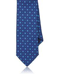 Barneys New York - Square-dot Silk Twill Necktie - Lyst