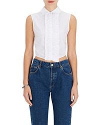 Jourden - Embellished Cotton Crop Top - Lyst