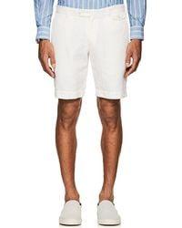 Boglioli - Herringbone-weave Cotton-linen Shorts - Lyst