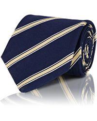 Isaia - Striped Silk Repp Necktie - Lyst