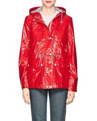 Barneys New York - Shiny Hooded Raincoat - Lyst