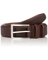 Barneys New York - Contrast-edge Leather Belt - Lyst