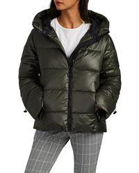 Barneys New York - Hooded Puffer Jacket - Lyst
