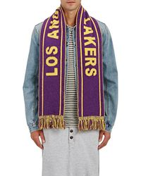 The Elder Statesman - los Angeles Lakers Cashmere Scarf - Lyst
