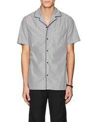 Officine Generale - Striped Cotton Poplin Camp Shirt - Lyst