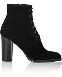 Barneys New York - Lug-sole Suede Ankle Boots - Lyst