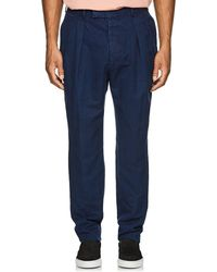 Officine Generale - Slub Linen-cotton Trousers - Lyst