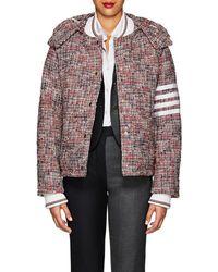 Thom Browne - Down Wool-blend Tweed Puffer Coat - Lyst