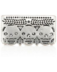 Pamela Love - Day Of The Dead Double-finger Ring - Lyst