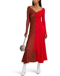 Marine Serre - Two-tone Jersey Dress - Lyst