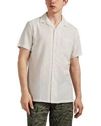 Onia - Vacation Striped Seersucker Camp-collar Shirt - Lyst
