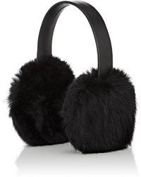 Crown Cap - Rabbit Fur Earmuffs - Lyst