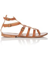 Barneys New York - Leather Gladiator Sandals - Lyst