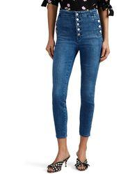 J Brand - Natasha High-rise Skinny Crop Jeans - Lyst