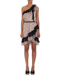 Philosophy Di Lorenzo Serafini - Floral Lace One-shoulder Minidress - Lyst