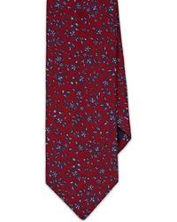 Barneys New York Floral Silk Jacquard Necktie - Red