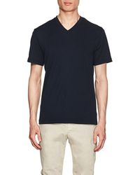 James Perse - Cotton Jersey V-neck T - Lyst