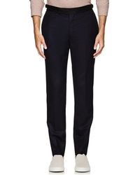 Officine Generale - Contrast-waistband Wool Tailored Trousers - Lyst