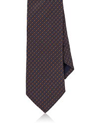 Mens Medallion Silk Satin Necktie Barneys New York cJV799cd