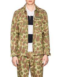 Rag & Bone - Flight Camouflage Cotton Twill Shirt Jacket Size S - Lyst