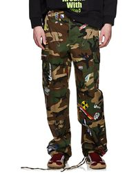 Vetements - Camouflage & Sticker-print Cotton Cargo Trousers - Lyst