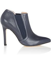 Halston - Wendy Leather Ankle Boots - Lyst