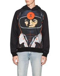 Christopher Kane - Astronaut-print Back-zip Cotton Hoodie - Lyst