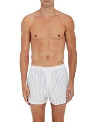 Nero Perla - Striped Cotton Plain - Lyst