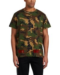 Off-White c/o Virgil Abloh - Flocked Camouflage-print Cotton T-shirt - Lyst