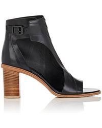 Zero + Maria Cornejo - Faas Leather Cutout Booties - Lyst