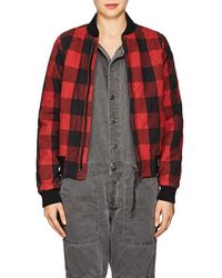 NSF - Neil Checked Flannel Bomber Jacket Size S - Lyst