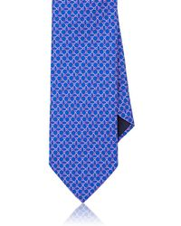 Barneys New York - Ombré-ellipse-print Silk Faille Necktie - Lyst