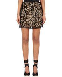 Chloé - Floral Lace Miniskirt - Lyst