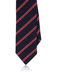 Barneys New York - Sriped Silk-cotton Faille Necktie - Lyst