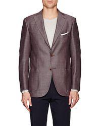 Piattelli Cotton-linen Two-button Sportcoat - Red